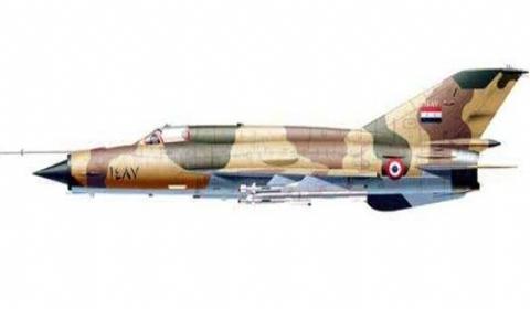 叙军战机坠毁  在叙利亚与约旦边界线附近被高射炮击落